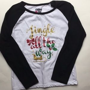 ❤️5 for $25 | Girls Limited Too Holiday Shirt